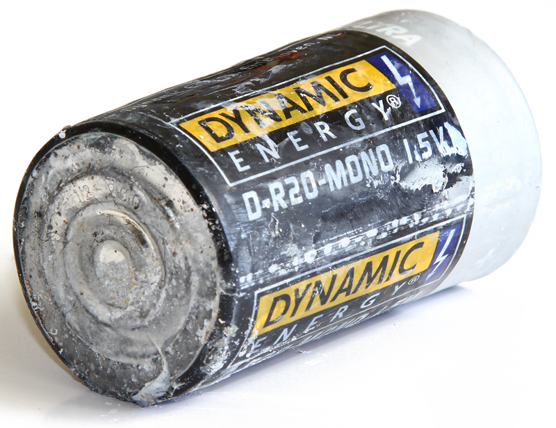 Ausgelaufene Batterie