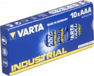 Varta Industrial Alkaline Batterien 10x AAA Micro LR03