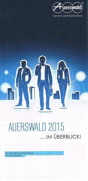 Auerswald Werbe-Flyer: Auerswald 2015 ...Im Überblick