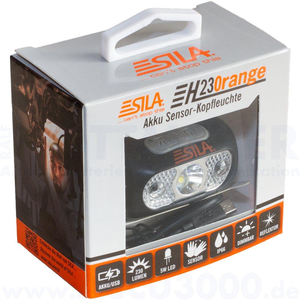 Sila H230range Akku Sensor-Kopfleuchte